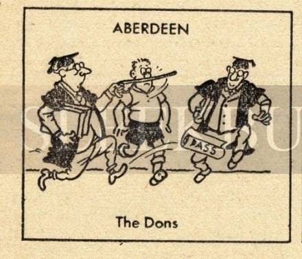 VINTAGE Football Print ABERDEEN - THE DONS Funny Cartoon